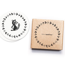 Cats on Appletrees - Houten stempel - 50x50mm - Blossom Circle L