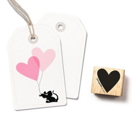 Cats on Appletrees - Houten stempel - 25x25mm - Stamp Heart (big)