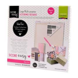 Vaessen Creative - Score Easy Rilbord CM Offwhite - 30,5 x 30,5 cm