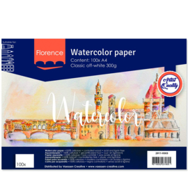 Florence Aquarelpapier classic Off-white - 100 vellen 300 grams papier - A4
