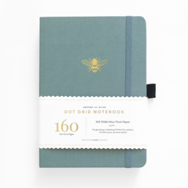 Archer & Olive bulletjournal/Notitieboek B5 17,5 x 25 cm - 160 pagina's - Dotted - Vintage Bee