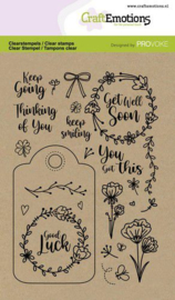 CraftEmotions clearstamps A6 - Good luck