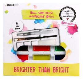 Studio Light aquarelset Art By Marlene - Brighter than bright neon - 6 NEON kleuren