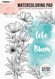 Studio Light Aquarelblok Pad - A5 Karin Joan Blooming Coll. nr.01