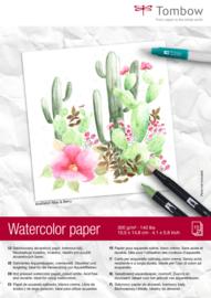 Tombow Aquarelpapier - 15 vellen 300 grams Roomwit - A6