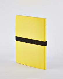 Nuuna Notitieboek A5 - 176 gele pagina's - Not White L Light Yellow + zwarte gel pen