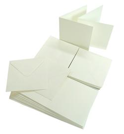 A6 Joy Crafts dubbele kaarten & enveloppen - wit papier - set  van 50