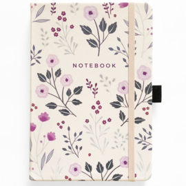 Archer & Olive bulletjournal/Notitieboek A5 - 160 pagina's - Dotted - Painted Flowers +GRATIS LOOTJE