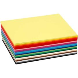 Colortime A6 enkele blanco kaarten 180 gram - 20 kleuren - set van 120