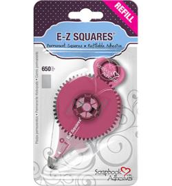 E-Z Squares Permanent dubbelzijdige tape wit - 8mm - Refill (navulling)