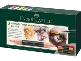 Faber Castell aquarel marker Albrecht Dürer - set van 5 - Portrait