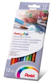 Pentel aquarel potloden - set van 12