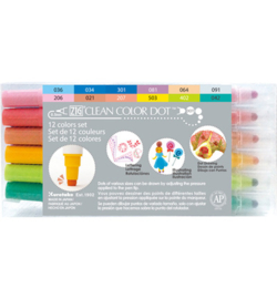 Zig Clean Color Dot stiften - set van 12