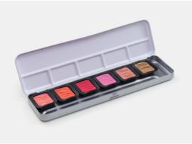 FINETEC Aquarelverf - Pearlesescent Colours palet F0603S - 5 kleuren + 1 flipflop