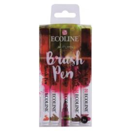 Talens Ecoline Brush Pen - set van 5 - herfst
