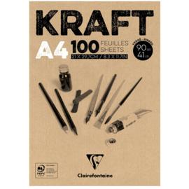 Clairefontaine Kraft A4 - 100 vellen - 90 gram - kraft papier