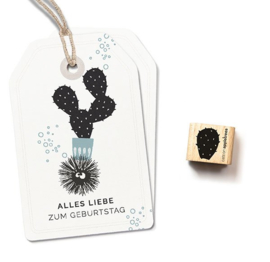 Cats on Appletrees - Houten stempel - 15x15mm - Cactus 2