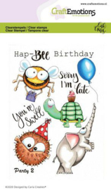 CraftEmotions clearstamps A6 - Party 2 - Carla Creaties