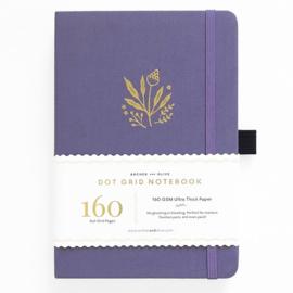 Archer & Olive bulletjournal/Notitieboek A5 - 160 pagina's - Dotted - Floral Details +GRATIS LOOTJE