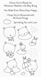 My Favorite Things clear stamps - set van 15 - Sprinkling You with Love
