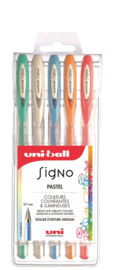 Uni-ball Signo Pastel Gelpennen UM-120 -  0,7 mm - set van 5