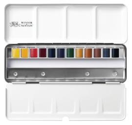 Winsor & Newton Professional - Aquarelverf set van 12 kleuren