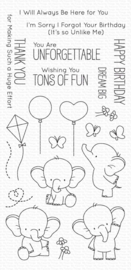 My Favorite Things clear stamps - set van 21 - BB Adorable Elephants
