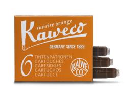Kaweco inktpatronen - set van 6 - Sunrise Orange