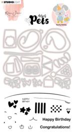 Studio Light Clear Stamp & Die Cut Karin Joan - Missees pets funny bunny nr.05