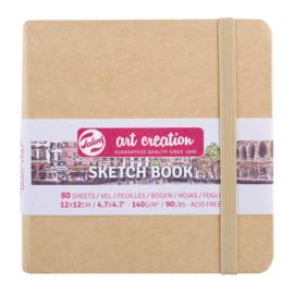 Talens art creation Brush / Schetsboek 12 x 12 cm - 80 vellen - Kraft