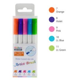 Marvy Uchida Artist Brush Pen - set van 5 - Vivid