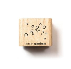 Cats on Appletrees - Houten stempel - 20x20mm - Bubbles