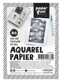 Paperfuel Aquarelpapier texture A6 - 20 vellen 300 grams papier