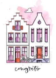 ACTIE SET 2: clearstamps - Nieuwe Woning - Carla Kamphuis  - set van 6