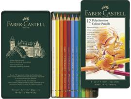 kleurpotlood Faber Castell Polychromos 3,8mm kerndikte - set van 12