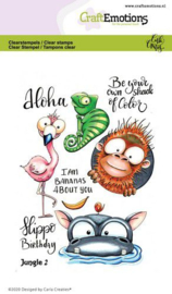 CraftEmotions clearstamps A6 - Jungle 2 - Carla Creaties
