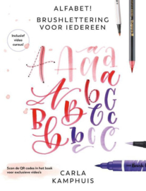 Pre-order: Alfabet! Brushlettering voor iedereen - Carla Kamphuis