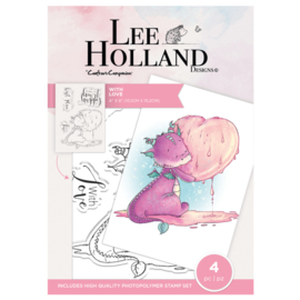 Crafter's Companion Lee Holland Clearstamp - With Love