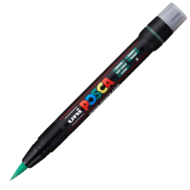 Uni Posca Paint Marker Brush pen PCF-350 - Groen