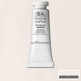 Winsor & Newton Gouache Zinc - 14 ml wit