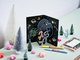 Edding Glanslak-markers 751 - Pastelkleuren - set van 5 + GRATIS boekje Karin Luttenberg