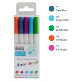 Marvy Uchida Artist Brush Pen - set van 5 - Harmony