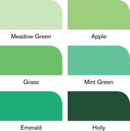 Winsor & Newton promarkers Green tones - set van 6