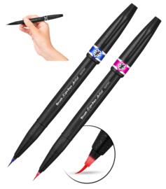 Pentel Brush Sign Artist - extra fijne brush pen - Donkerblauw