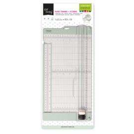 Vaessen Creative - Papiersnijder met rilfunctie 15 x 30,5 cm - Mint