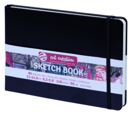 Talens art creation Brush / Schetsboek 21 x 14,8 cm - 80 vellen - Zwart