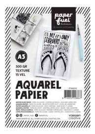 Paperfuel Aquarelpapier texture A5 - 15 vellen 300 grams papier