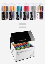 Karin Brushmarker PRO Mega BoxPLUS - set van 72 kleuren + 3 blenders