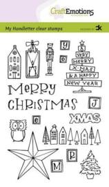 CraftEmotions clearstamps A6 - Handletter -  X-mas decorations 1 - Carla Kamphuis