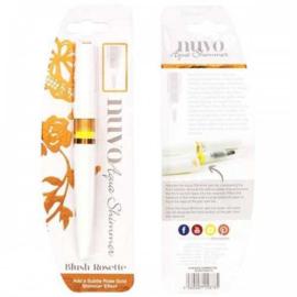 Tonic Studios Nuvo aqua shimmer glitter brush pen - Blush Rosette - 878N